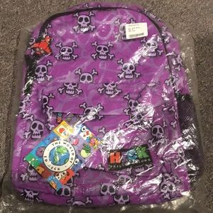 Ed heck purple skull backpack NWT